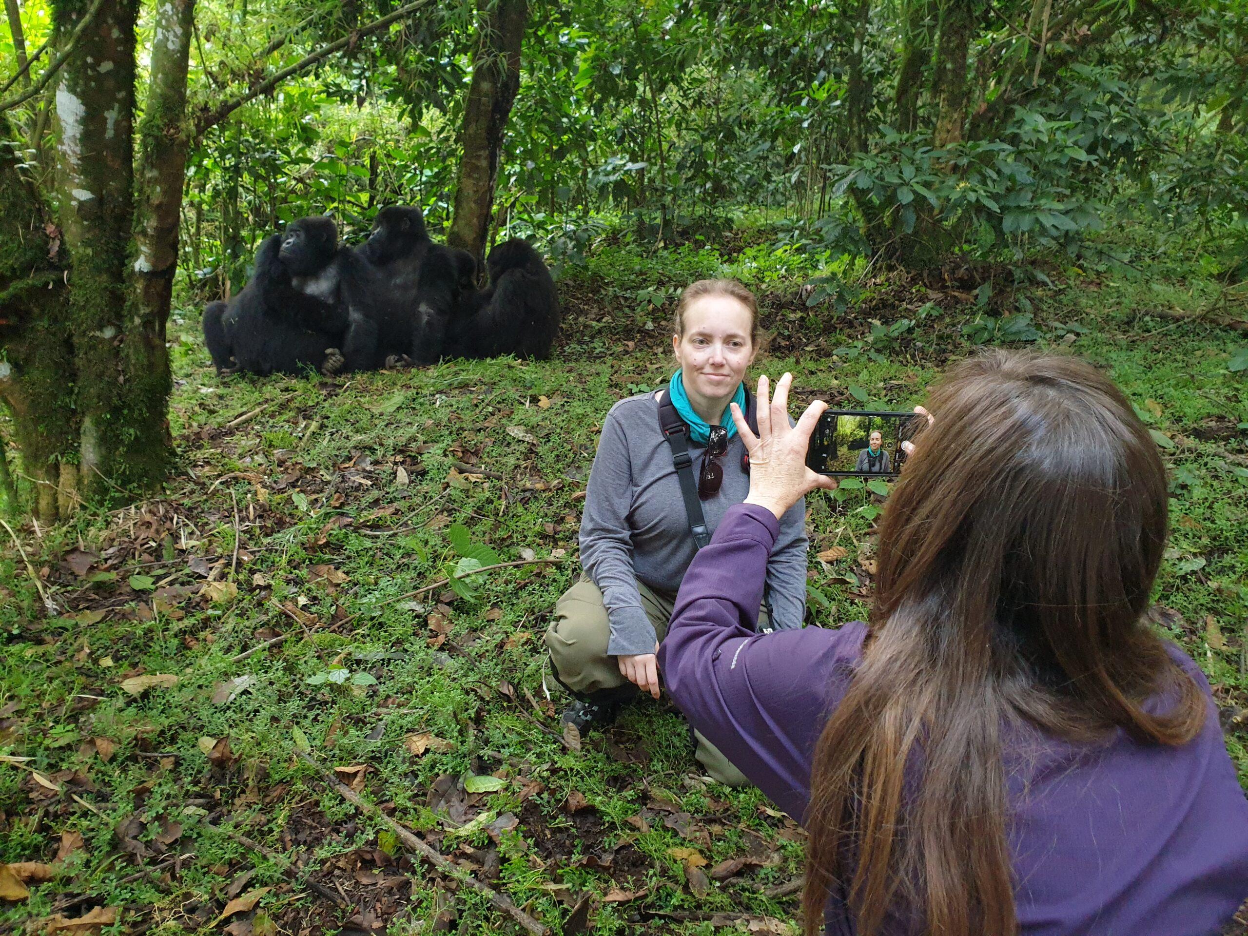 Photo opp with gorillas