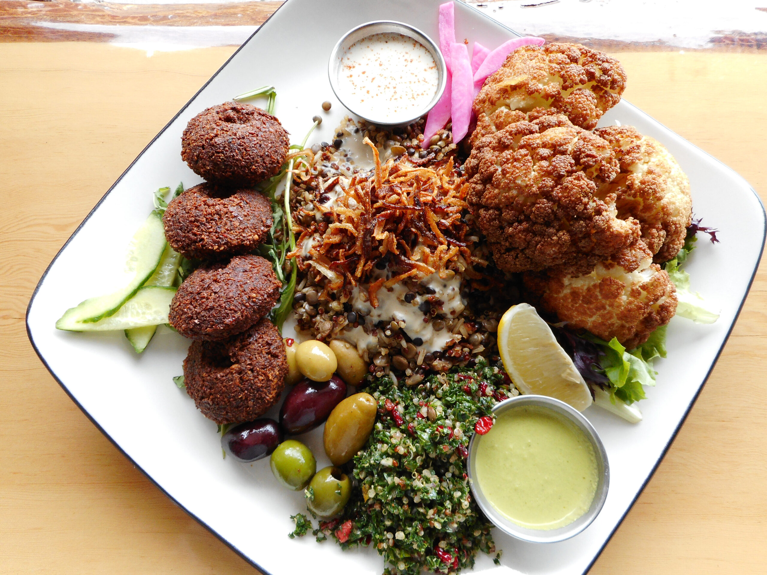 Saha Nabatti Platter a delicious v egan dish from one of our favourite restaurants in Squamish