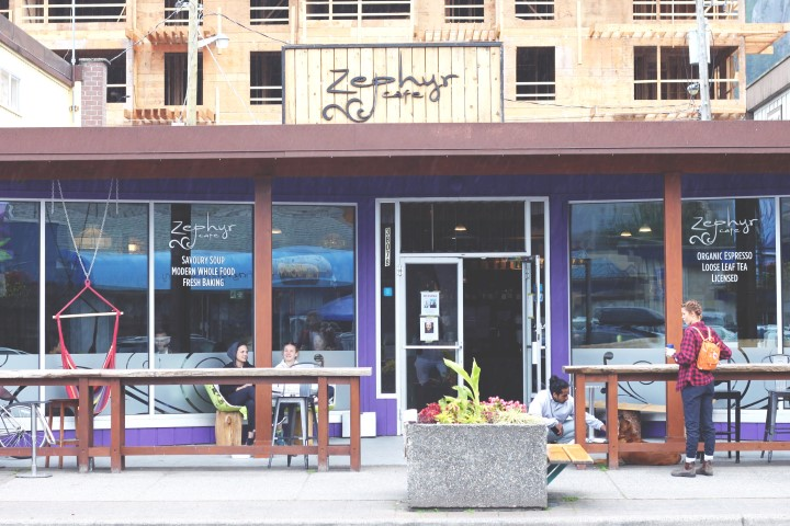 One of the best cafes with vegan options Zeyphyr Cafe Squamish