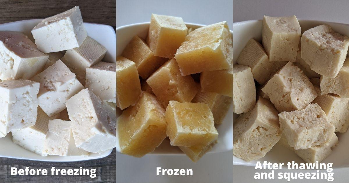 freezing tofu